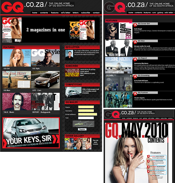 GQ website design cape town web design