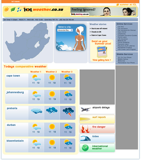 iolweather website design cape town web design